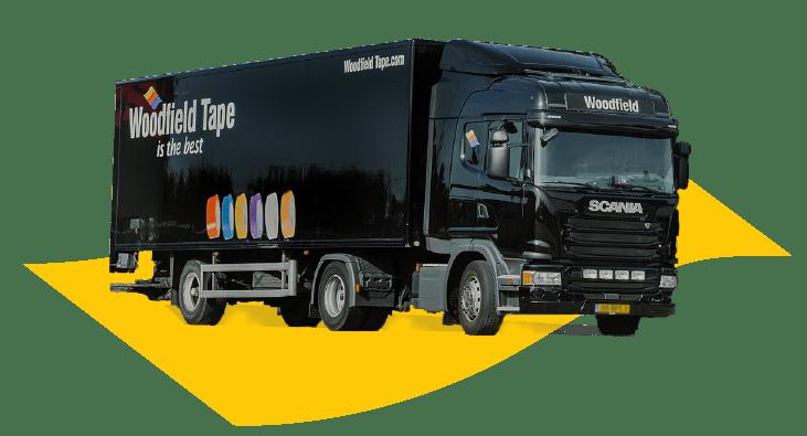 Vrachtwagen Woodfield bezorgservice